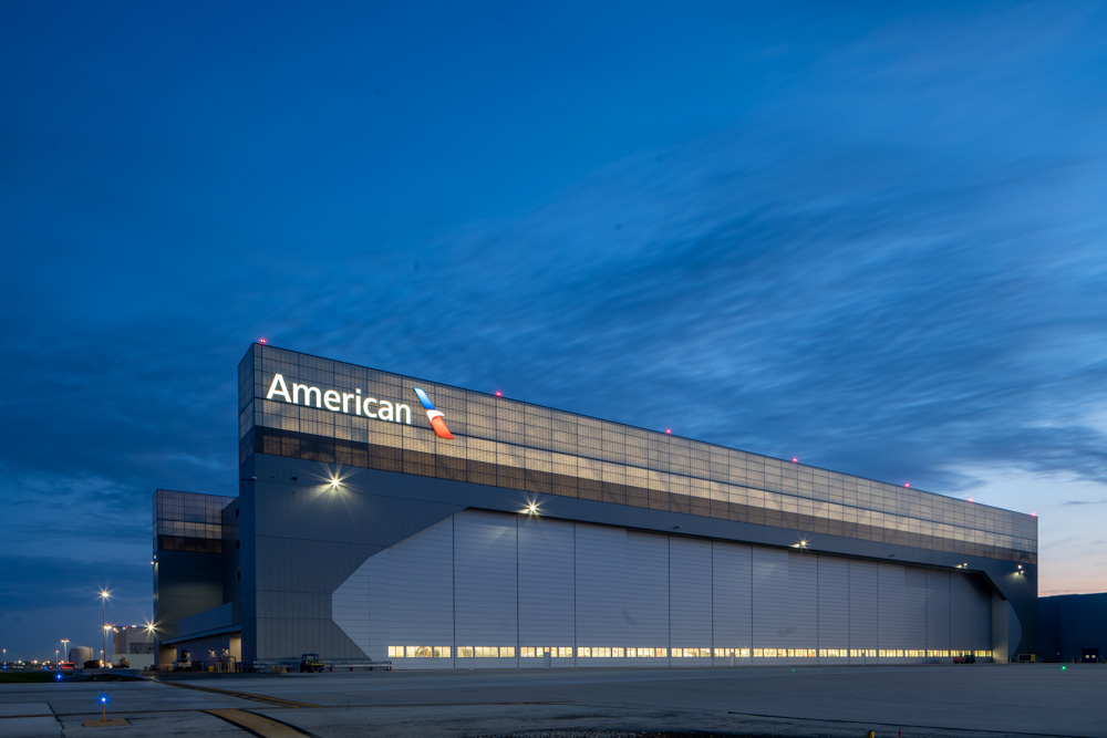 American Airlines new maintenance Hangar at Chicago O'Hare
